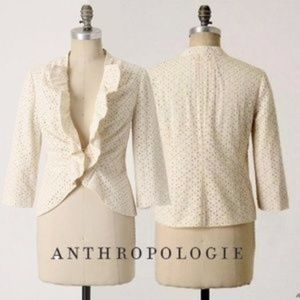 Anthropologie TABITHA $118 puckered Eyelet Jacket